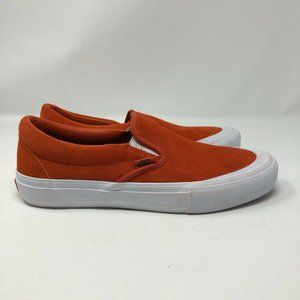 NEW VANS Slip On Shoes Koi Orange Suede Size 10